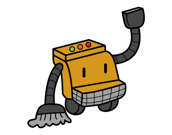 Dessin de robot de nettoyage colorie par membre non for Robot de nettoyage