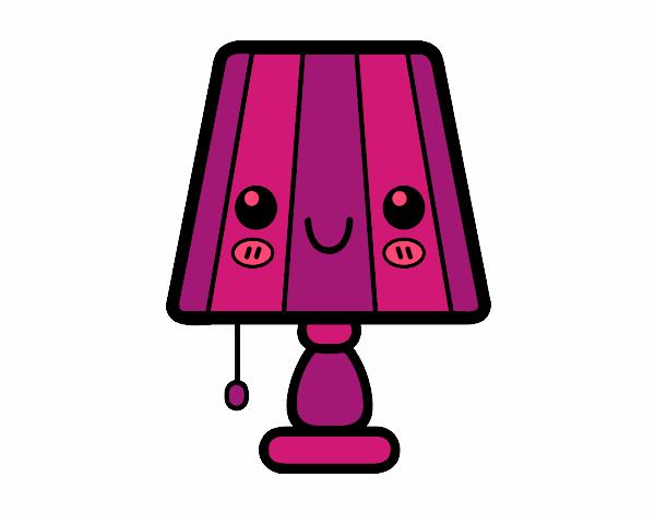 Dessin de une lampe de table colorie par membre non for Maison de la table