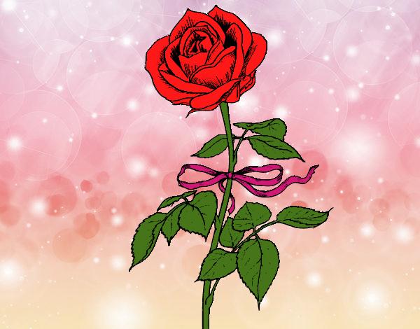 Dessin de une rose colorie par capucine le 06 de novembre de 2015 - Coloriage fleur capucine ...