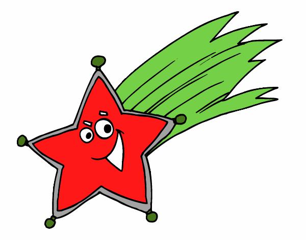 Dessin De étoile Filante Colorie Par Membre Non Inscrit Le