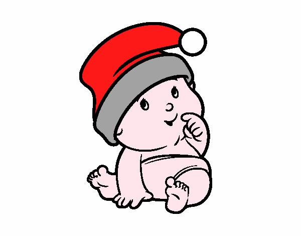 Dessin De Bebe Avec Le Pere Noel Chapeau Colorie Par Membre Non Inscrit Le 20 De Novembre De 2015 A Coloritou Com