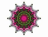 Mandala fleur de neige