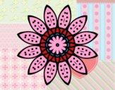 Mandala fleurs avec pétales