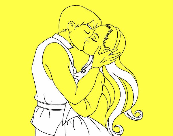 Dessin de baiser de l 39 amour colorie par membre non inscrit le 29 de novembre de 2015 - Dessin de l amour ...