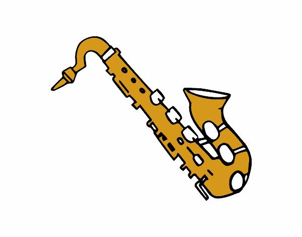 Dessin de saxophone t nor colorie par membre non inscrit - Dessin saxophone ...