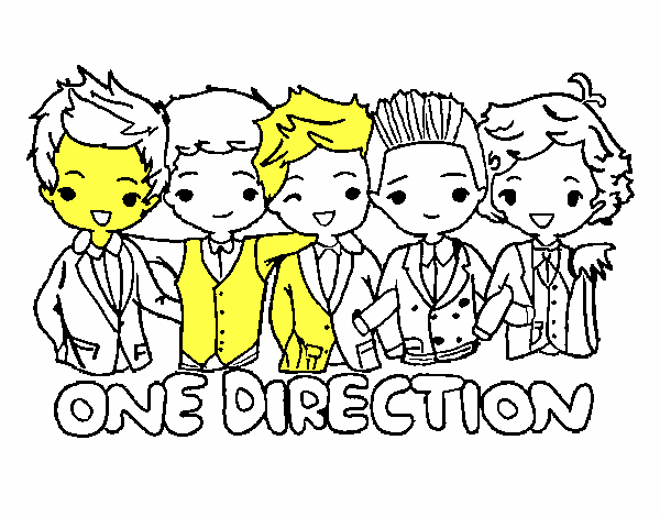 Coloriage One direction colorié par lesteven