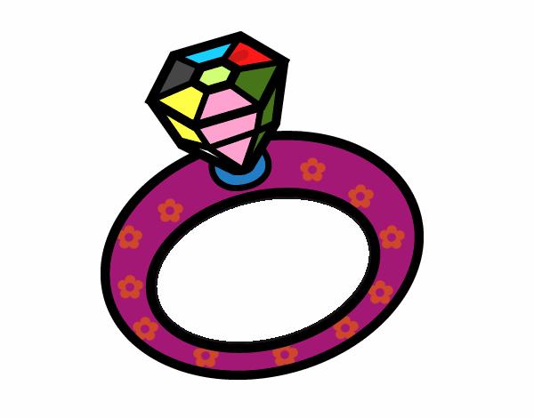 dessin de anneau de mariage colorie par membre non inscrit le 20 de d cembre de 2015. Black Bedroom Furniture Sets. Home Design Ideas