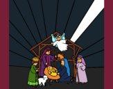 Coloriage crèche colorié par KAKE2