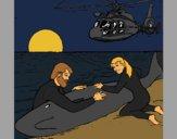 Coloriage Sauvetage baleine colorié par KAKE2