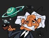 Coloriage Albert Einstein colorié par KAKE2