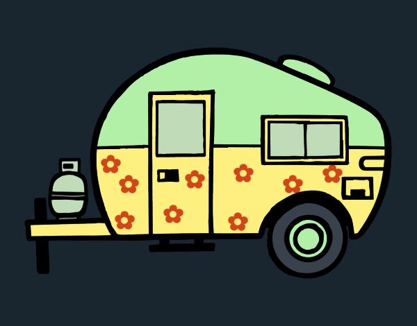 dessin de caravane moderne colorie par kake2 le 09 de janvier de 2016. Black Bedroom Furniture Sets. Home Design Ideas