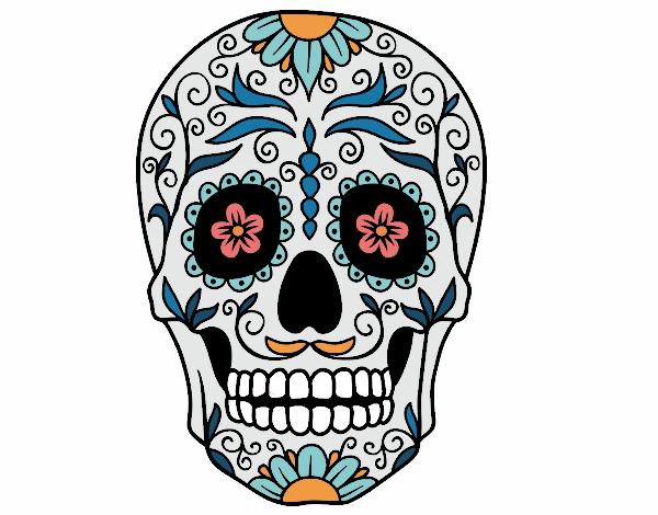 Dessin De Fête Des Morts Au Mexique Colorie Par Kadeiwane Le