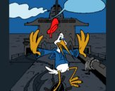 Coloriage Cigogne sur un bateau colorié par KAKE2