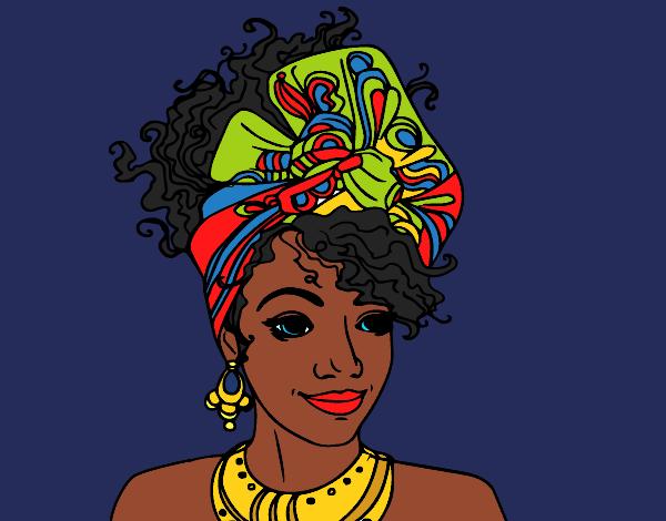 Dessin De Femme Africaine dessin de femme africaine colorie par kake2 le 11 de janvier de 2016