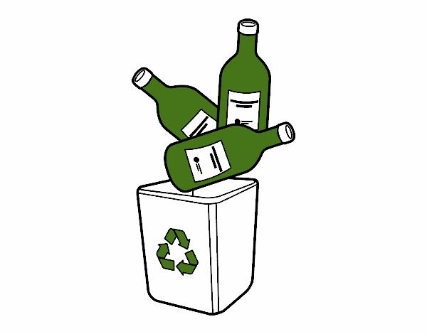 Dessin de le recyclage du verre colorie par membre non for Laine de verre recyclage