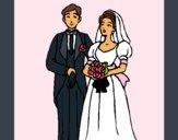 Coloriage Les mariés III colorié par KAKE2