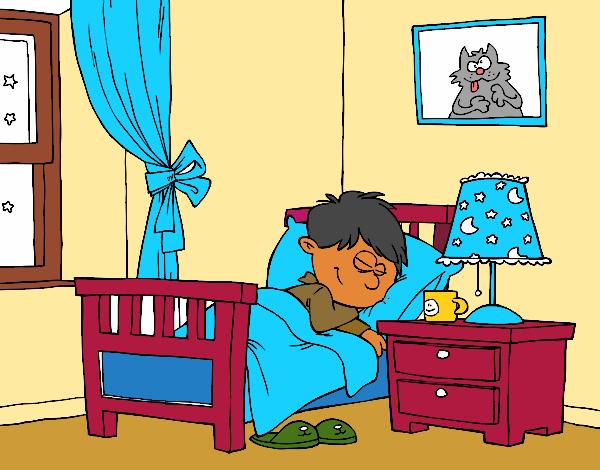 Dessin de chambre colorie par sadiane le 21 de janvier de for Peindre sa chambre
