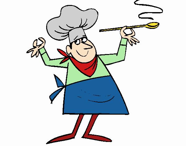 Dessin de cuisinier ii colorie par membre non inscrit le for Cuisinier xviii