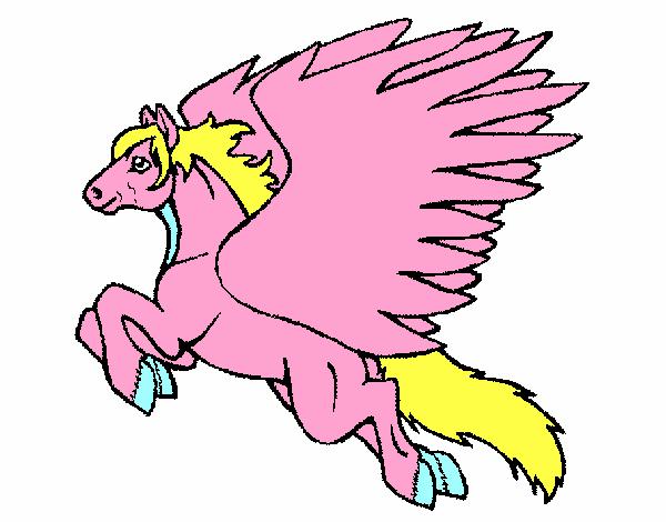 Dessin de p gase volant colorie par membre non inscrit le 24 de janvier de 2016 - Comment dessiner un pegase ...