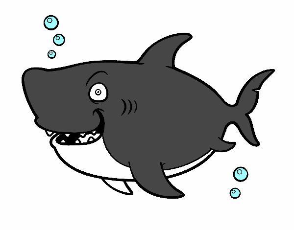 Dessin de requin baleine colorie par sadiane le 19 de - Coloriage de requin baleine ...