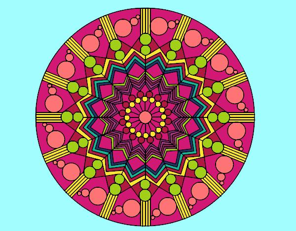Dessin De Le Mandala Des Couleurs Colorie Par Membre Non Inscrit Le