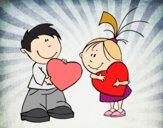 Enfants à Saint Valentin