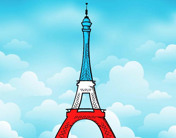 Top Dessin de La tour Eiffel colorie par Membre non inscrit le 09 de  LB57