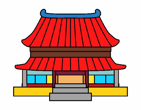 Dessin De Maison Traditionnelle Chinoise Colorie Par Membre Non Inscrit Le 11 De Fevrier De 2016 A Coloritou Com