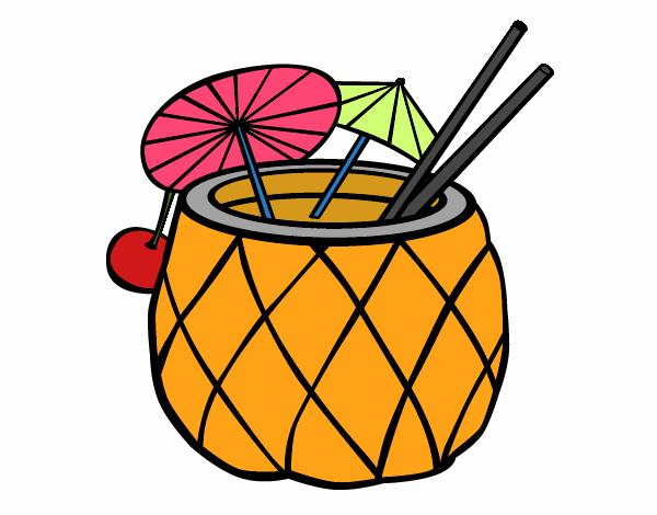 Dessin de cocktail ananas colorie par membre non inscrit le 20 de f vrier de 2016 - Dessin cocktail ...