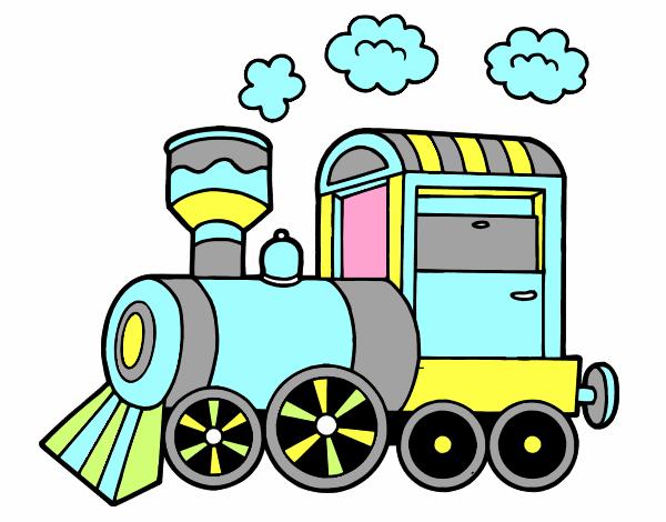 Dessin De Locomotive A Vapeur Colorie Par Cricritim Le 21 De Fevrier De 2016 A Coloritou Com