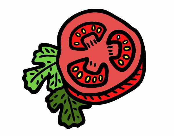 Dessin de tomate coup e en deux colorie par membre non inscrit le 19 de f vrier de 2016 - Dessin de tomate ...
