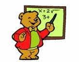 Coloriage Professeur ours colorié par Kinoux