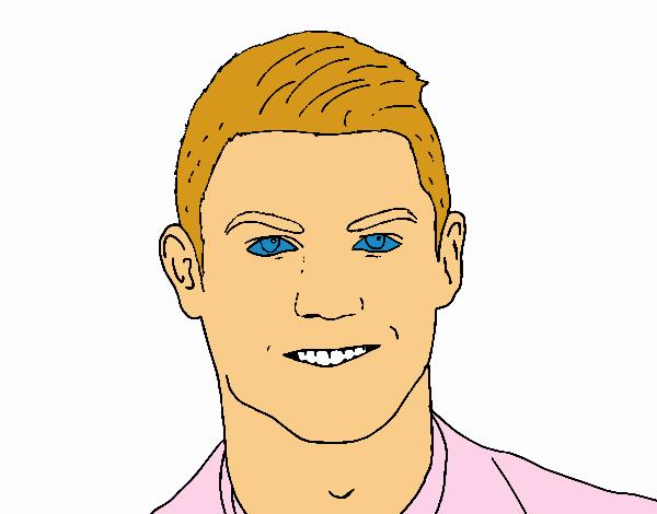 Dessin de visage cristiano ronaldo colorie par membre non - Ronaldo coloriage ...