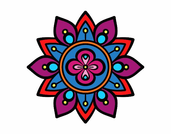 Dessin de mandala fleur du lotus colorie par membre non - Fleur de lotus mandala ...