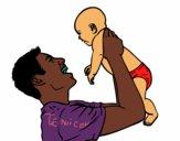 Père et bébé