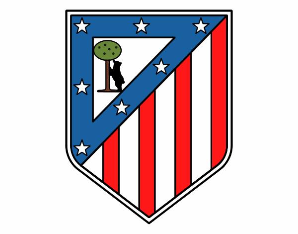 Célèbre Dessin de Blason du Club Atlético de Madrid colorie par Membre non  KB45
