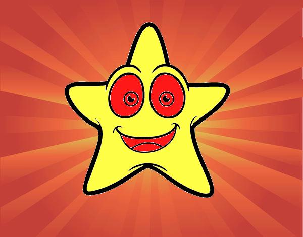 Étoile de mer souriante