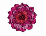 Coloriage Dahlia colorié par ophelie