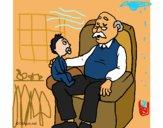 Grand-père et petit-enfant
