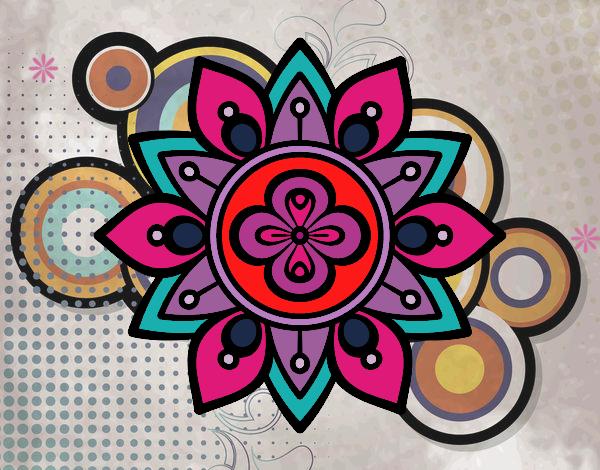 Dessin de mandala fleur du lotus colorie par membre non inscrit le 27 de avril de 2016 - Mandala fleur de lotus ...