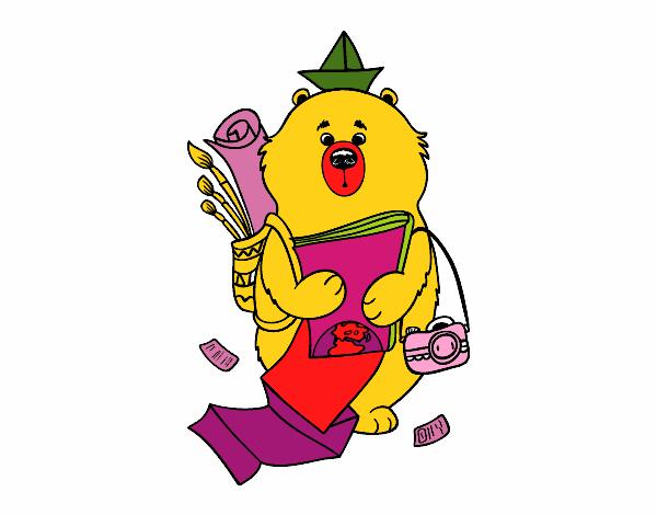 Dessin de voyageur ours colorie par membre non inscrit le - Voyageur dessin ...