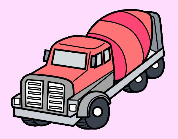 dessin de camion malaxeur colorie par tristanlou le 09 de mai de 2016. Black Bedroom Furniture Sets. Home Design Ideas