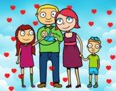 Famille ensemble