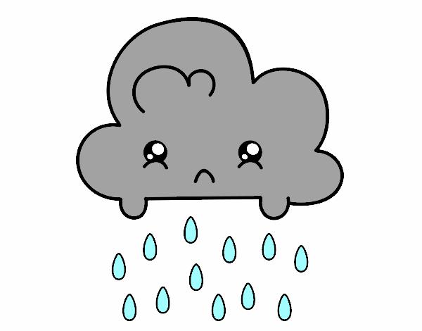nuage kawaii - Dessin De Nuage