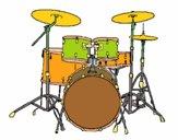 Coloriage Batterie de percussions colorié par tifany