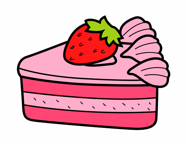 Dessin de g teau aux fraises colorie par membre non - Dessert dessin ...
