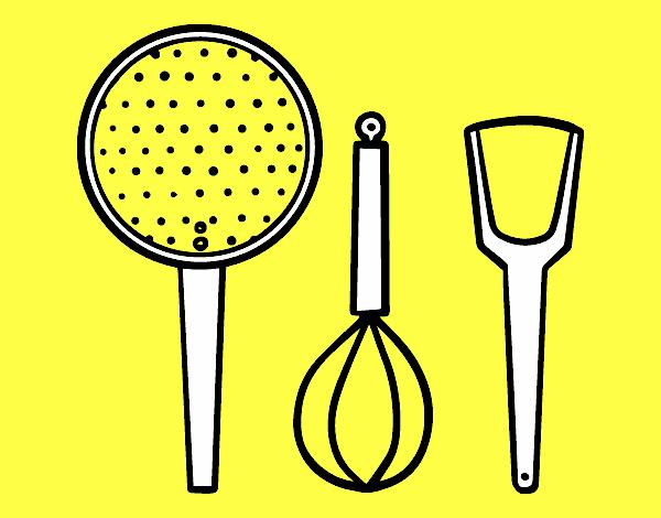 Dessin De Les Ustensiles De Cuisine Colorie Par Membre Non