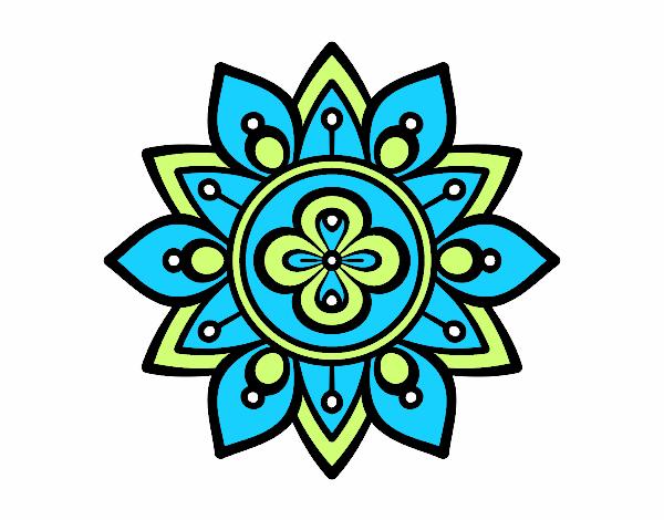 Dessin de mandala fleur du lotus colorie par membre non inscrit le 25 de mai de 2016 - Mandala fleur de lotus ...