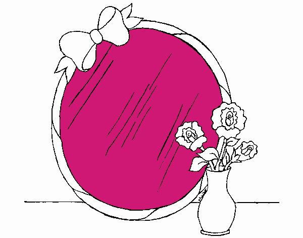 Dessin de miroir colorie par membre non inscrit le 23 de for Miroir dessin
