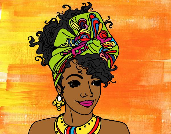 Dessin De Femme Africaine dessin de femme africaine colorie par marhone le 01 de juin de 2016